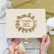 Personalised Botanical Newborn Keepsake Box