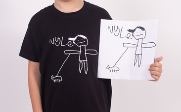 Have your kid's drawing turned into a printed top