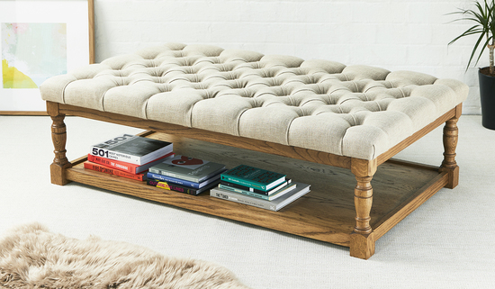 Footstools and More Wooden Framed ottoman