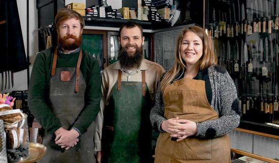 The Kitchen Provisions Team - Tom, Jake and Helen