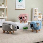 Koala bear footstool, with a handy storage compartment for small items.