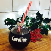 Novelty drinking glass ball ball Christmas gift personalised