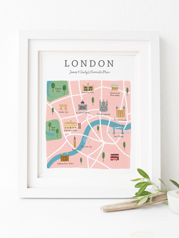 Personalised London Map Print