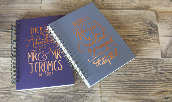 PERSONALISED WEDDING BOOK AND PERSONALISED RECIPE BOOK