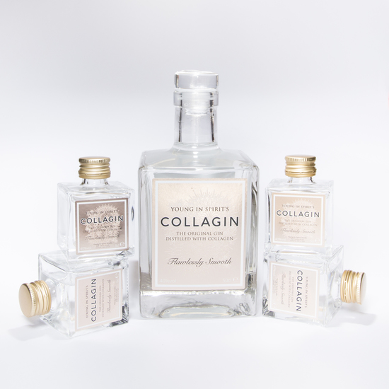 Collagin 50cl and 5cl mini gin