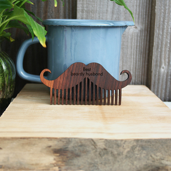 personalised beard comb