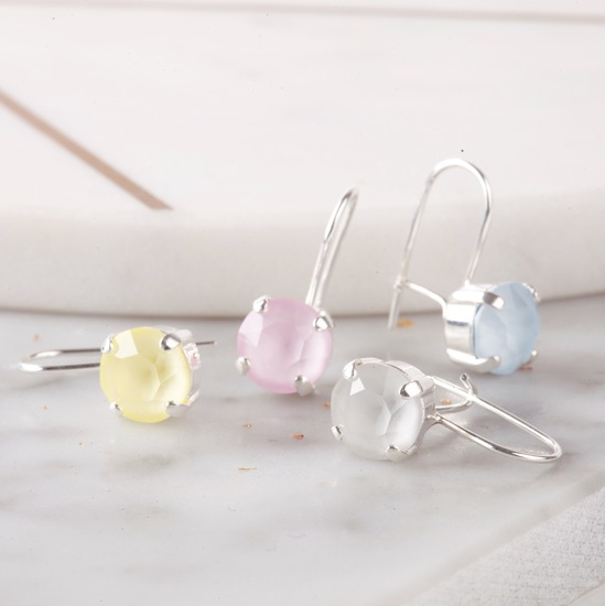 Small drop crystal earrings by Iscah and Mimi jewellery