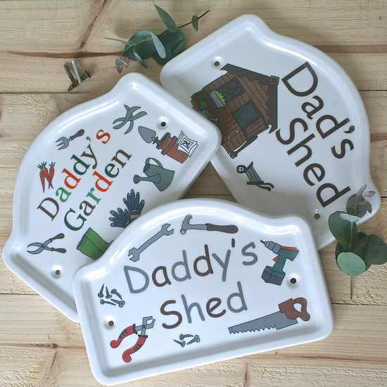 Father's Day gift Personalised Dad's shed plaque