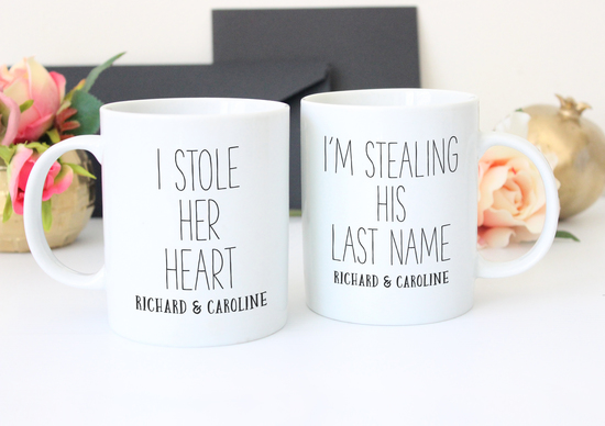 Engagement mug set