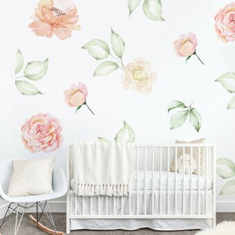 floral romance wall sticker