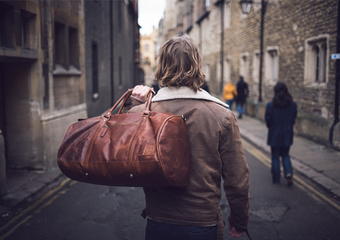 MAHI Leather Classic Duffle in Vintage Brown