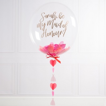 Will You Be My MOH? Bubble Balloon