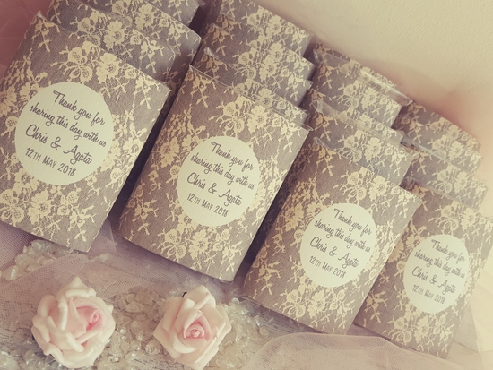 Lace design Chocolates Favours