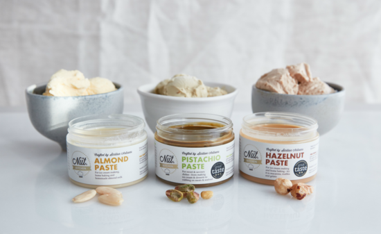 Nut pastes and spreads for foodies and chefs