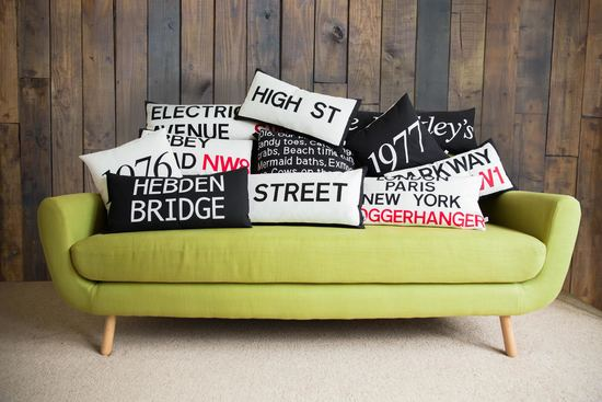 Hand Crafted cushion designs personalised to you.