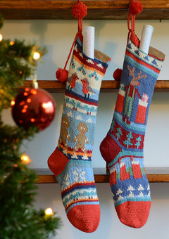 Hand Knitted Christmas Stockings