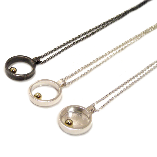 Machi de Waard gold ball mini pendants