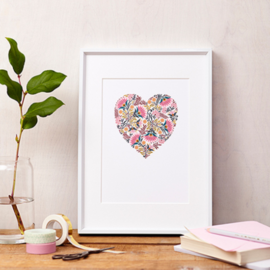 Martha Floral Heart Love art print