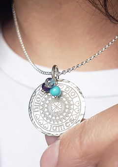 Sterling Silver Family Mandala Necklace