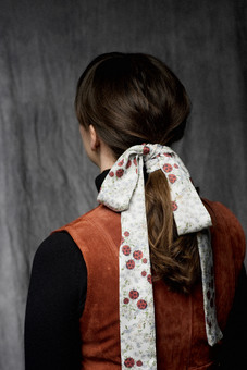 Wilful North, ladybird silk skinny scarf