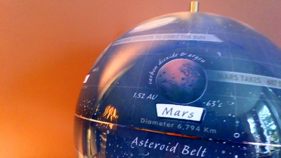 A beautiful 22.5cm light up globe of our Solar System