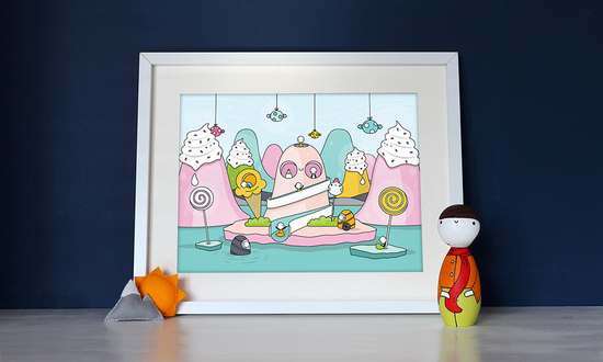 Bespoke and non-bespoke illustrated prints and gifts from Tiny Grey