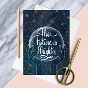 The Future is Bright congratulations greetings card