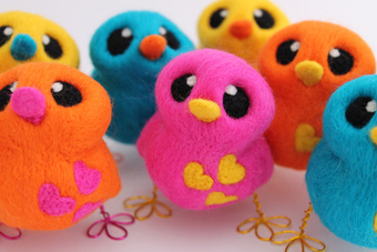 Feltmeupdesigns Needle Felted Love Birds