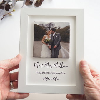 Wedding Clay photo tile & print by Periwinkle and Clay