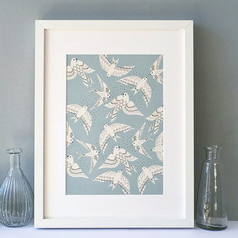Birds illustration print