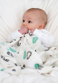 Badger Bamboo Swaddle Blanket