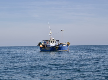 Fishing boat in the bay