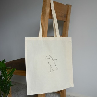 Gemini star sign tote bag