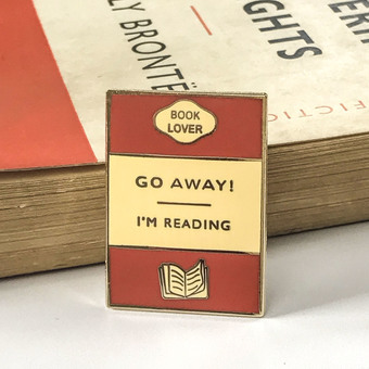 Book Lover Pin Badge
