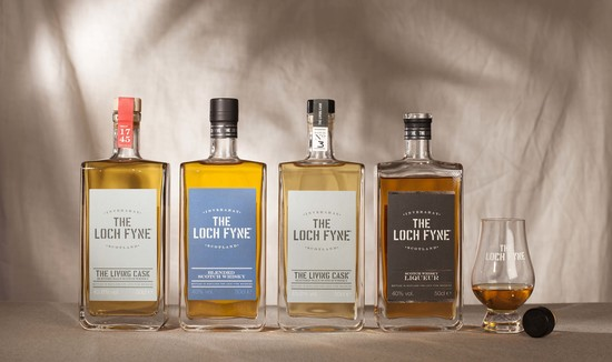 The Loch Fyne range of whiskies and liqueurs.