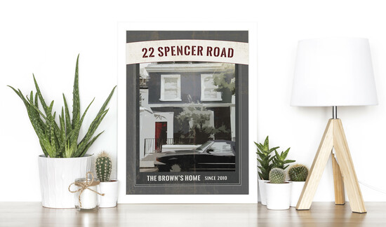 Personalised Vintage House Portrait