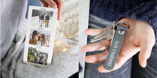 Our best friend photo tile and handmade leather keyring