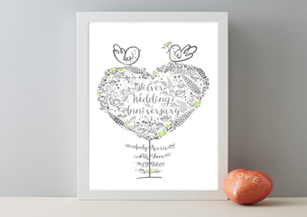 25th_wedding_anniversary_gift_print