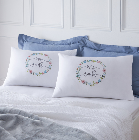 Floral Personalised Pillowcases