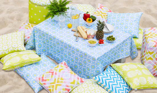 Penelope Hope colourful designer fabrics and tropical luxury cushions
