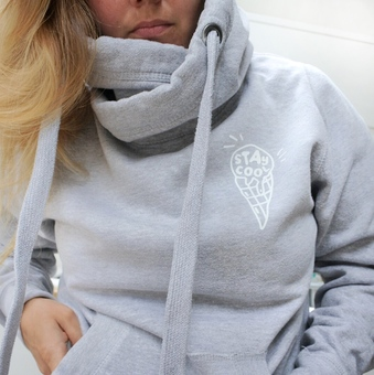 Squiffy Print cross neck hoodies