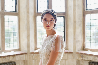 Agnes Walker Silver Acorn Bridal Headpiece