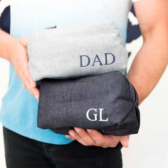 Pre Loved Print Fabric Wash Bag Limited Edition Personalised Denim Wash Bag  ... 941b0775fcc1d