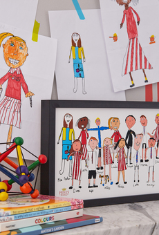 class school portrait drawn by the pupils themselves