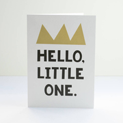 typographic art card for children