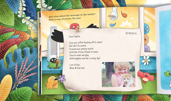 Message in a Bottle personalised children's book