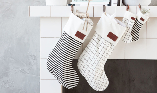 Monochrome Christmas Stocking