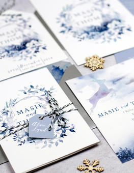 'Winter Wonderland'  Foliage' invitations