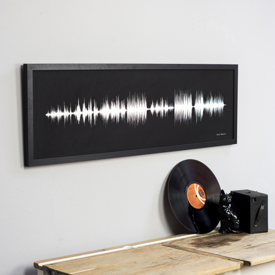 Newton and the Apple Sound Wave Song Print