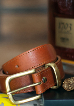N'Damus London Orion Leather Belt